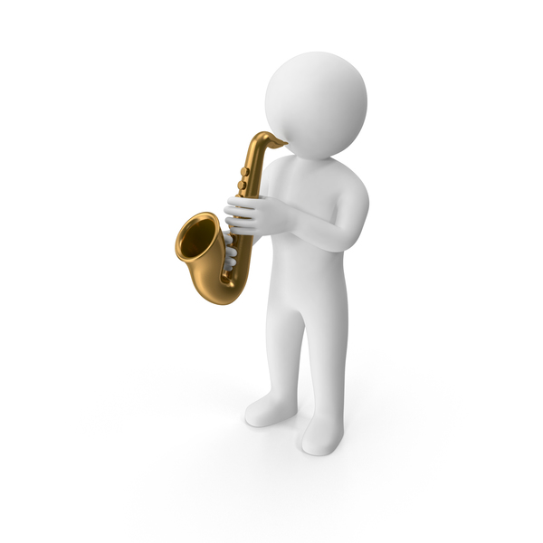 Stickman Playing Saxophone PNG & PSD Images