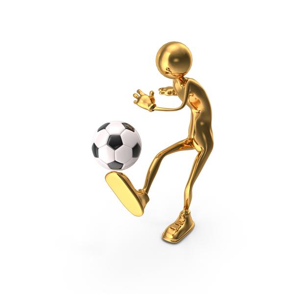Cartoon Man: Stickman Playing Soccer PNG & PSD Images