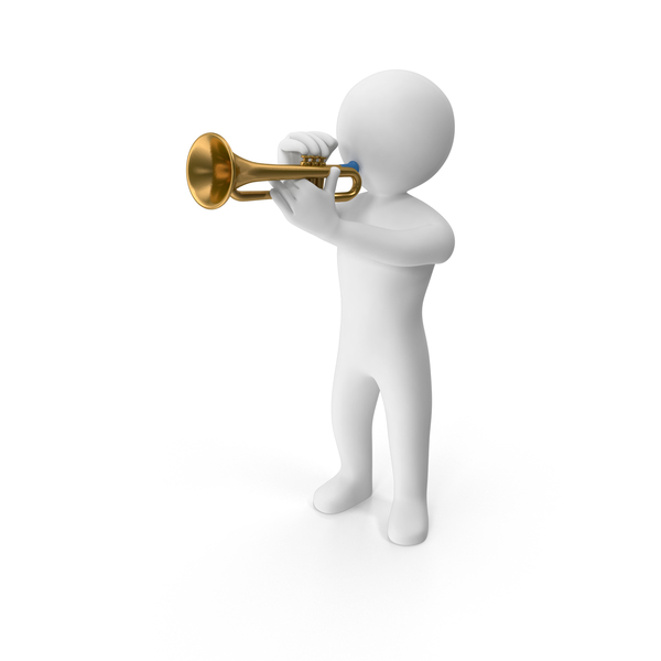 Stickman Playing Trumpet PNG & PSD Images