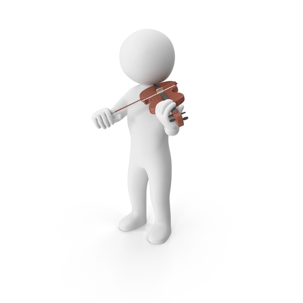 Stickman Playing Violin PNG & PSD Images