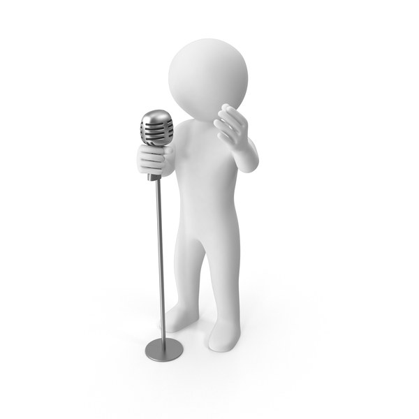 Stickman Singing PNG & PSD Images