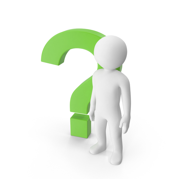 Stickman With Question Mark PNG & PSD Images
