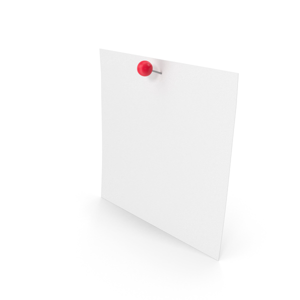 Office Supplies: Sticky Note And Sphere Push Pin PNG & PSD Images