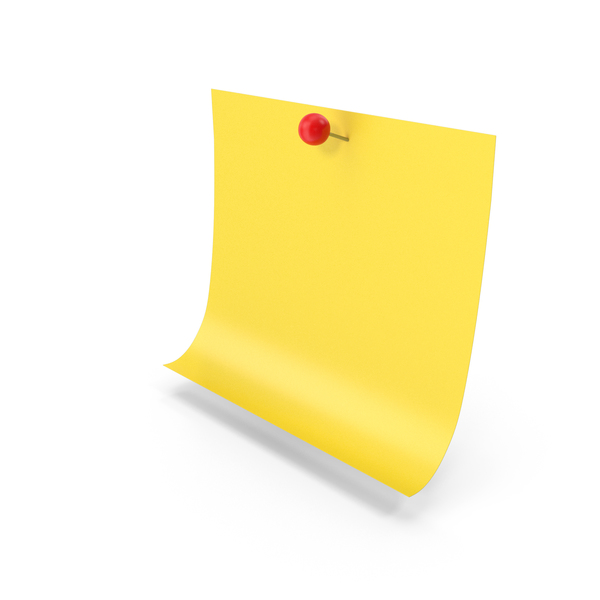 Sticky Note With Push Pin PNG & PSD Images