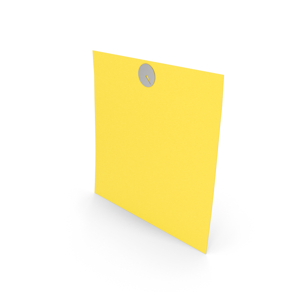 Sticky Note With Thumbtack PNG & PSD Images