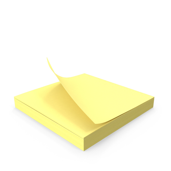 Note: Sticky Notepad PNG & PSD Images