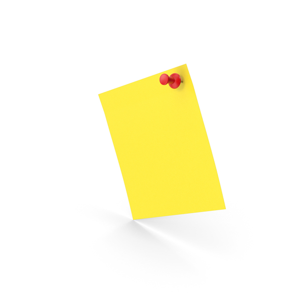 Sticky Notes And Push Pin PNG & PSD Images
