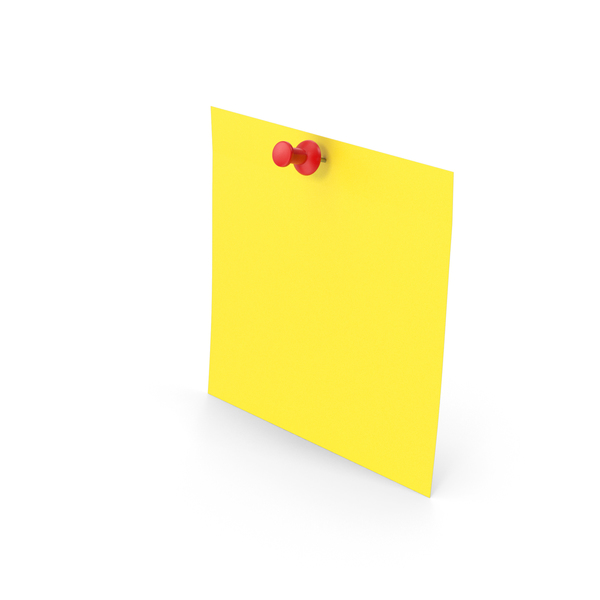 Note: Sticky Notes And Push Pin PNG & PSD Images