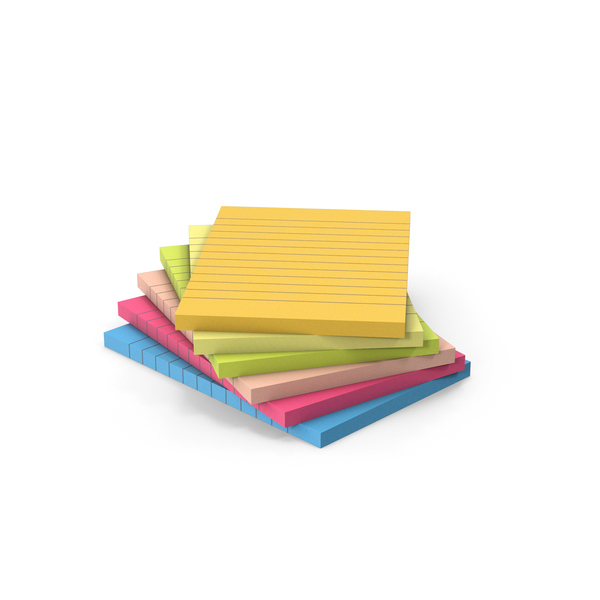 Sticky Notes Stack PNG & PSD Images