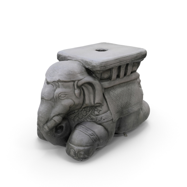 STONE ELEPHANT PNG & PSD Images