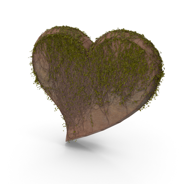 Sculpture: Stone Heart With Ivy PNG & PSD Images