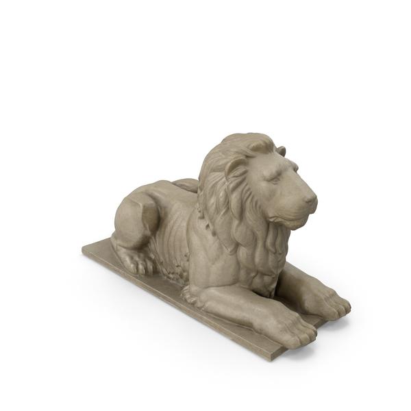 Stone Lion Sculpture PNG & PSD Images