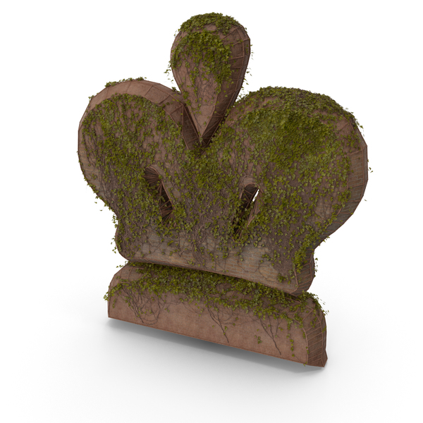Stone With Ivy Chess King Symbol PNG & PSD Images