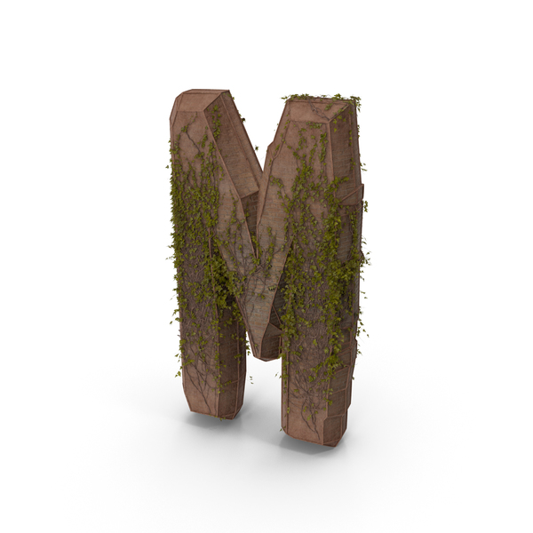 Stone With Ivy Letter M PNG & PSD Images