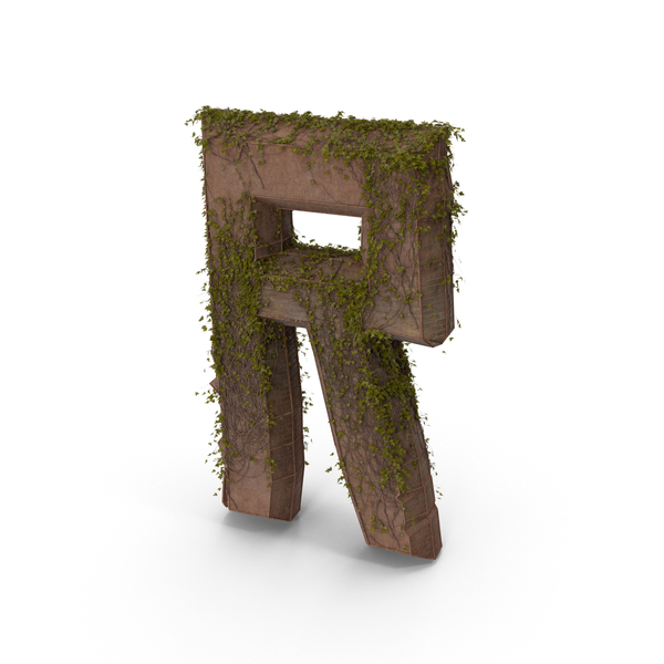 Language: Stone With Ivy Letter R PNG & PSD Images