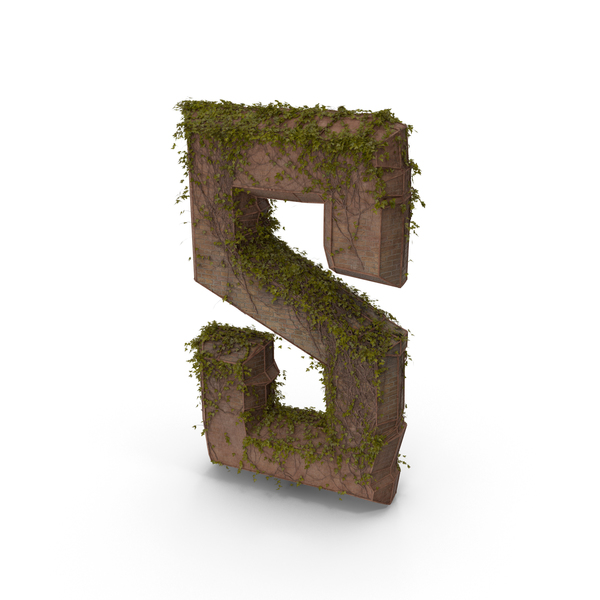 Language: Stone With Ivy Letter S PNG & PSD Images