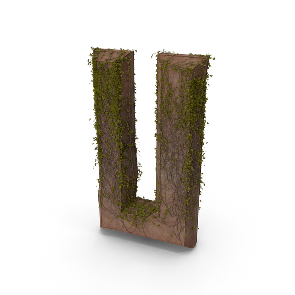 Language: Stone With Ivy Letter U PNG & PSD Images
