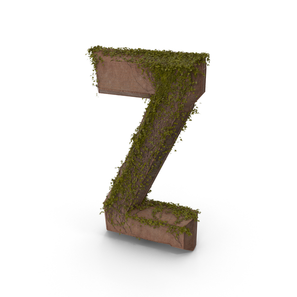 Language: Stone With Ivy Letter Z PNG & PSD Images
