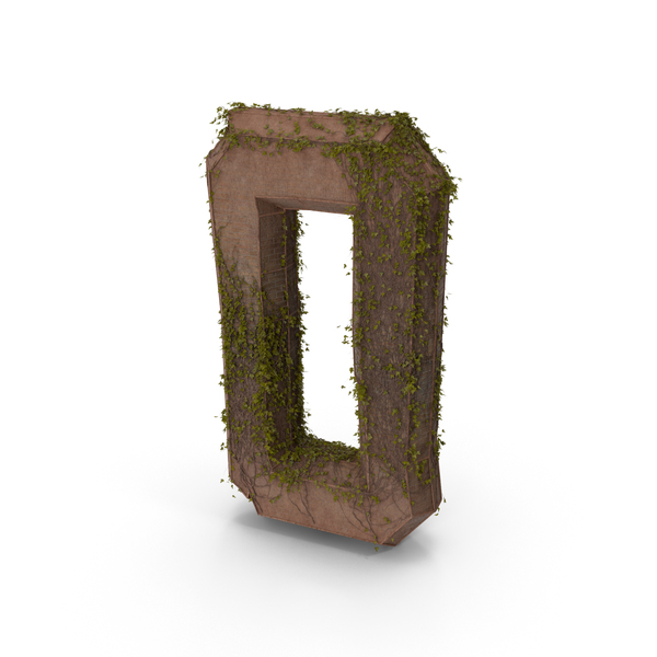 Stone With Ivy Number 0 PNG & PSD Images