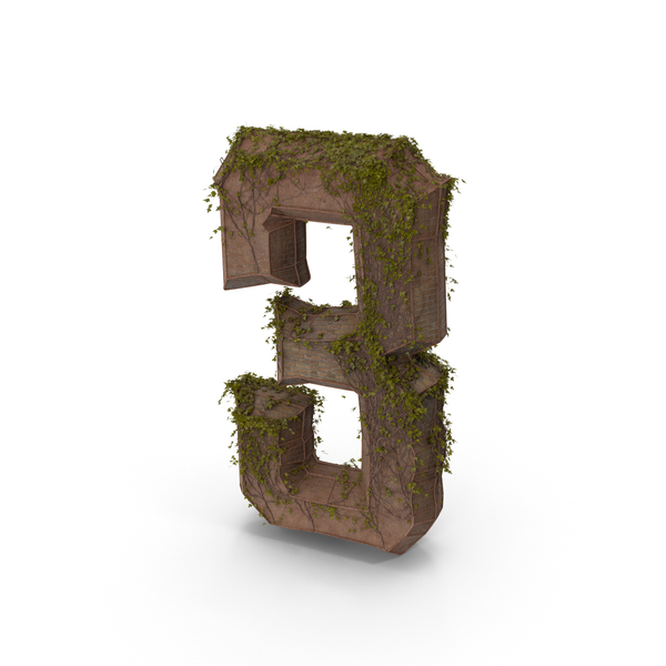Stone With Ivy Number 3 PNG & PSD Images