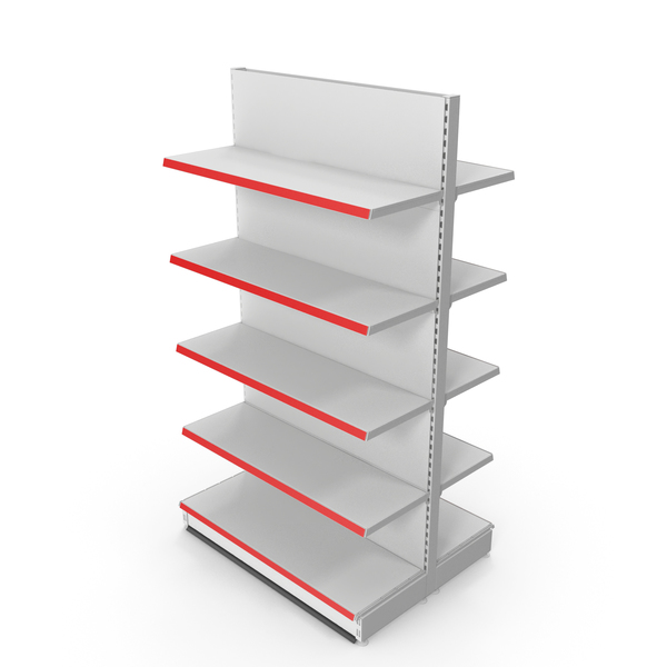 Shelving: Store Double-Sided Supermarket Rack PNG & PSD Images