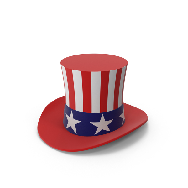 Stove Pipe United States Flag Hat PNG & PSD Images