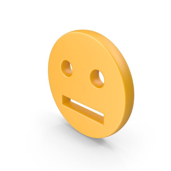 Facial Expression: Straight Face Symbol PNG & PSD Images