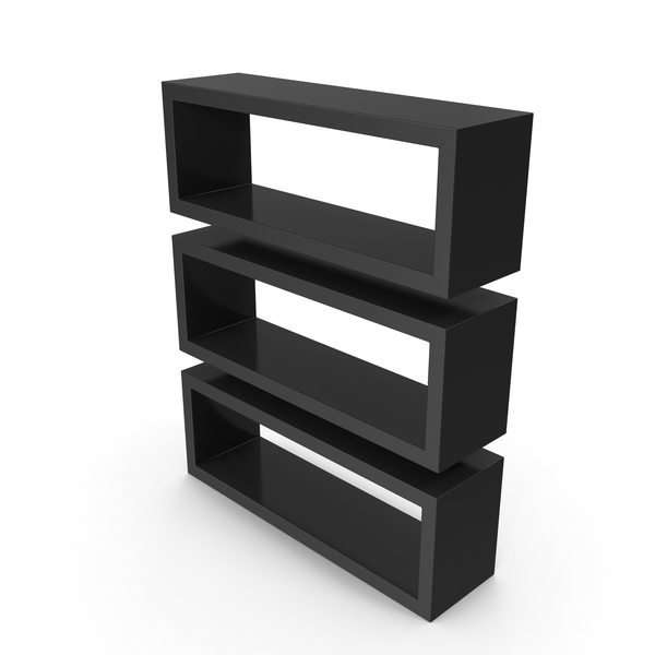 Shelving: Straight Shelves Black PNG & PSD Images