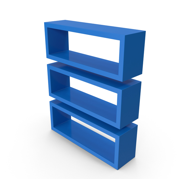 Straight Shelves Blue PNG & PSD Images