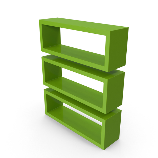 Straight Shelves Green PNG & PSD Images