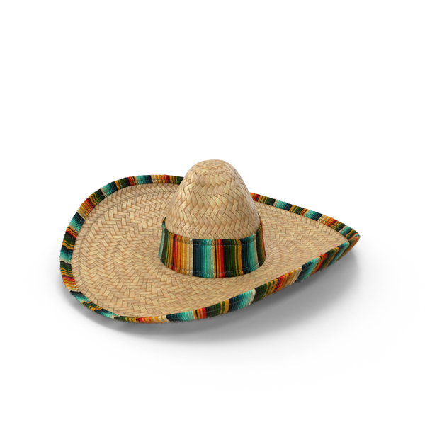 Straw Sombrero Object
