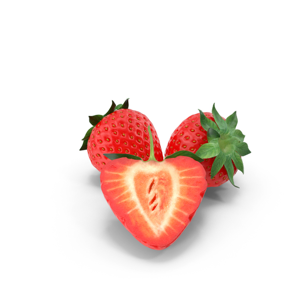 Strawberry Group of 3 PNG & PSD Images