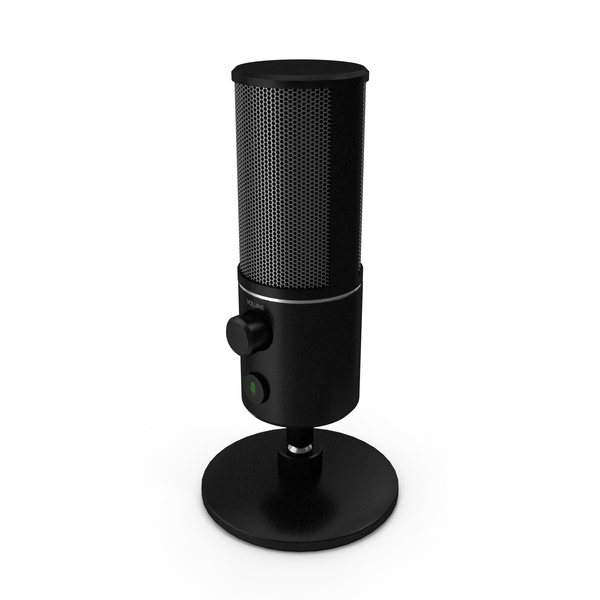 Condenser: Streaming Microphone Black PNG & PSD Images