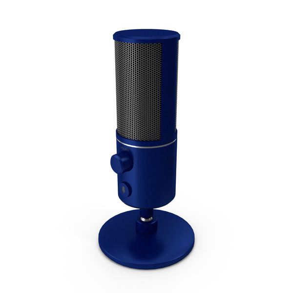 Condenser: Streaming Microphone Blue PNG & PSD Images