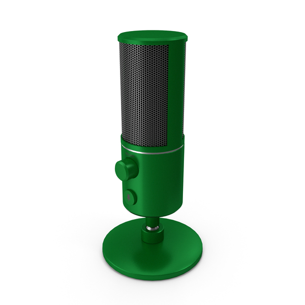 Condenser: Streaming Microphone Green PNG & PSD Images