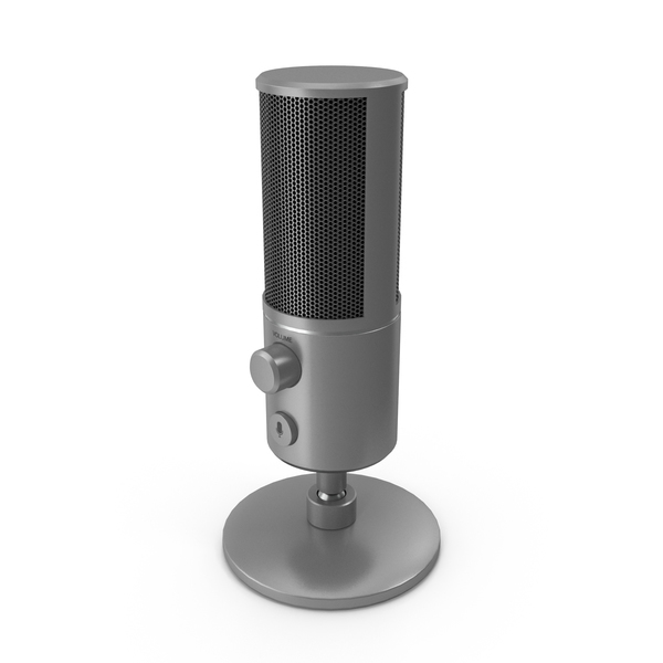Condenser: Streaming Microphone Grey PNG & PSD Images
