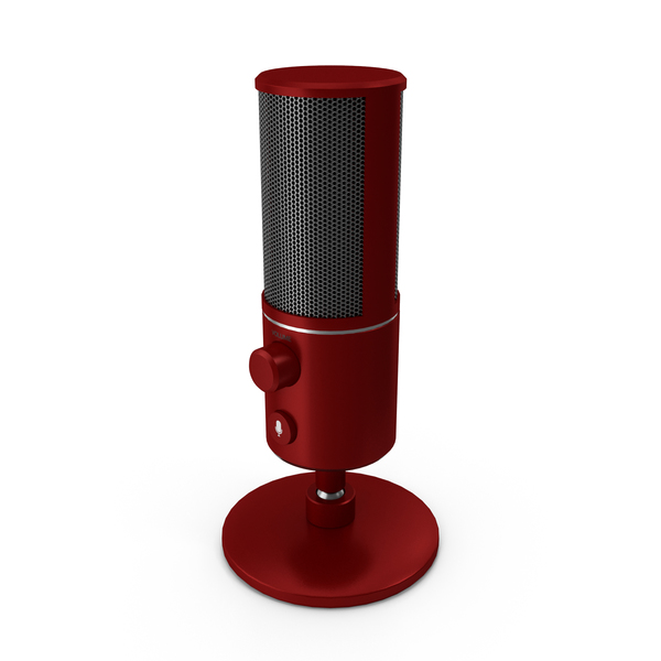 Condenser: Streaming Microphone Red PNG & PSD Images