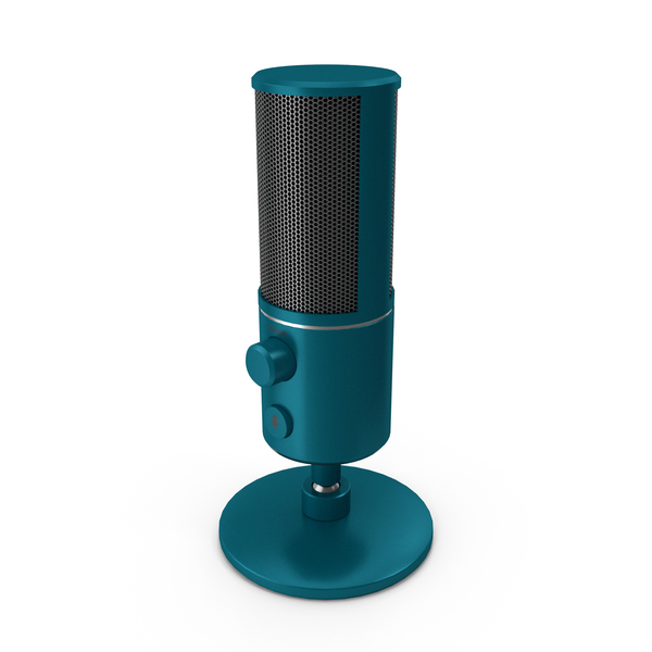 Condenser: Streaming Microphone Sky Blue PNG & PSD Images