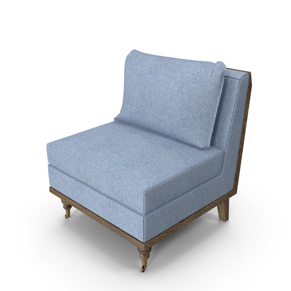 Strip Blue Armchair PNG & PSD Images