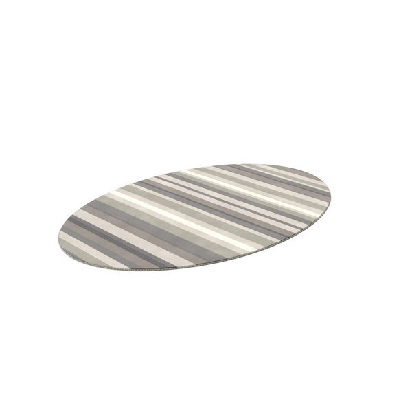 Striped Oval Rug PNG & PSD Images