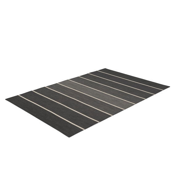 Striped Rectangular Dhurrie Rug PNG & PSD Images
