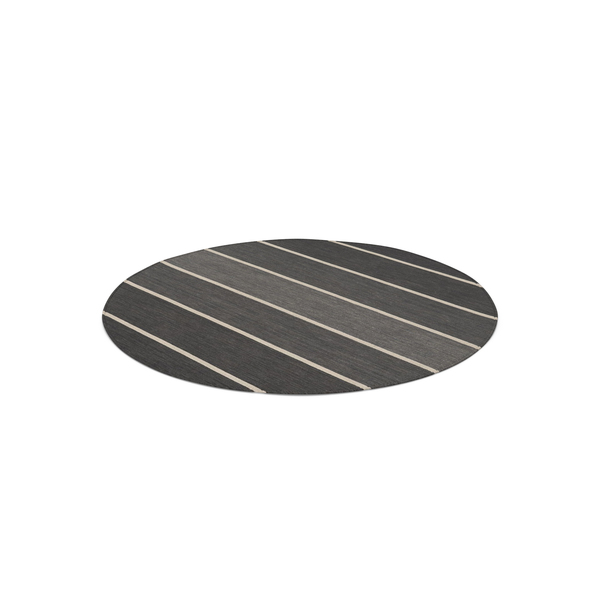 Striped Round Dhurrie Rug PNG & PSD Images