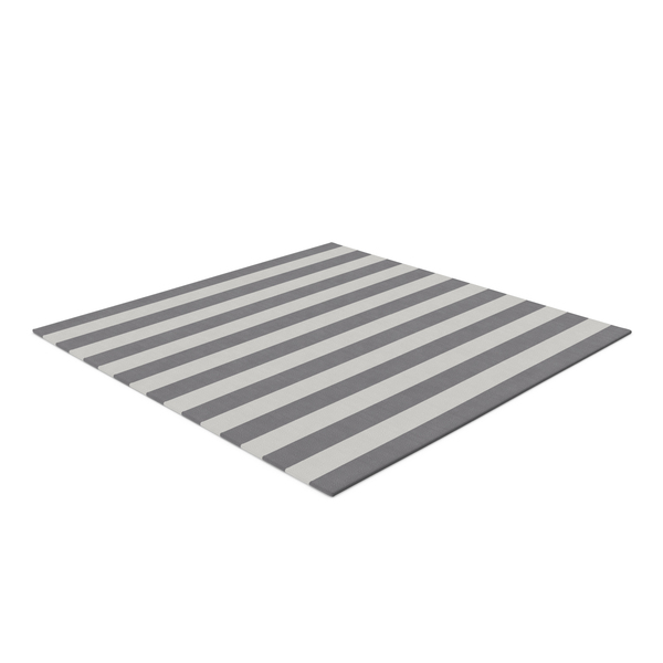 Striped Square Dhurrie Rug PNG & PSD Images