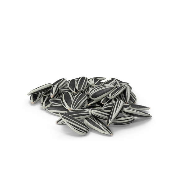 Striped Sunflower Seeds Pile PNG & PSD Images