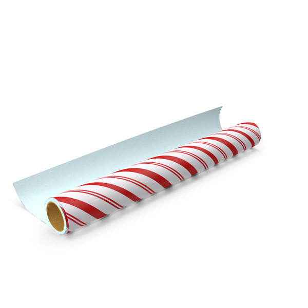 Striped Wrapping Paper Roll PNG & PSD Images