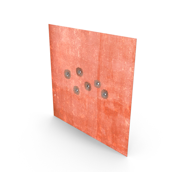Destroyed Wall: Structural Impact Bullet (Metal) PNG & PSD Images