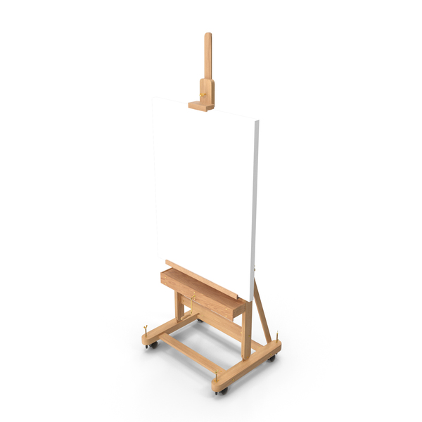 Studio Easel with Clean Canvas PNG & PSD Images