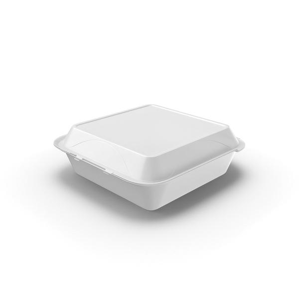 Styrofoam To Go Box Object