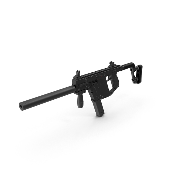 Submachine Gun KRISS Vector PNG & PSD Images