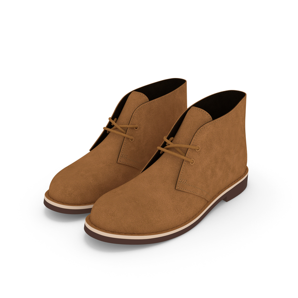 Suede Chukka Boots Beige PNG & PSD Images
